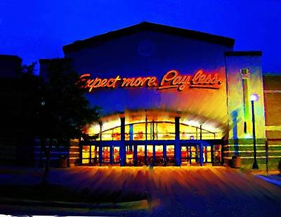 Poster featuring the digital art Target Super Store C by P Dwain Morris