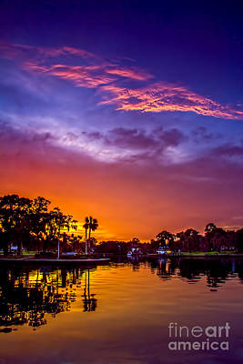Tarpon Springs Glow Poster by Marvin Spates