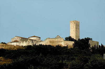 Tarquinia Landscape With Tower Poster