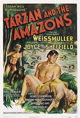 Tarzan And The Amazons, From Left Poster by Everett