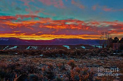 Taos Sunrise Poster