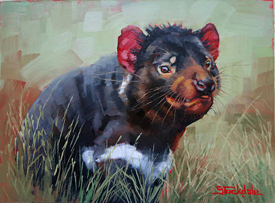 Tasmanian Devil Poster by Margaret Stockdale