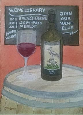 Tasting Room - Mattucci Poster by M Carlen