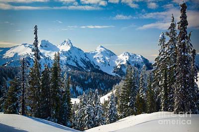 Tatoosh Winter Landscape Poster by Inge Johnsson