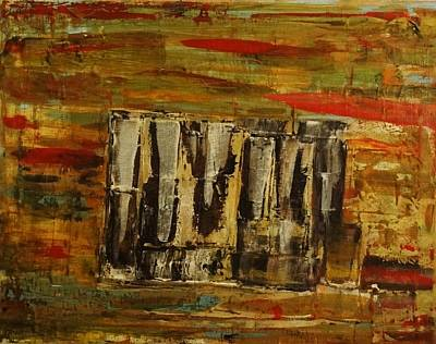 Tattered Curtain Poster by Vicki Pirtle