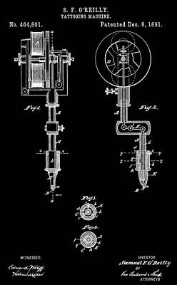 Tattoo Machine Poster by Dan Sproul