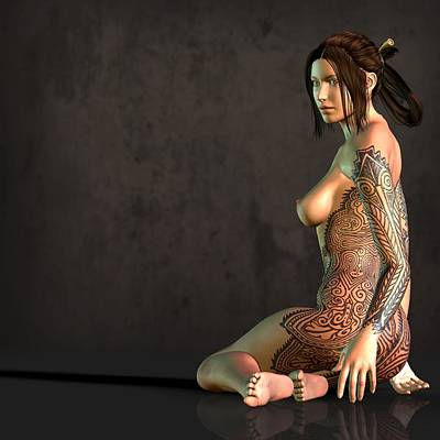 Tattooed Nude Poster