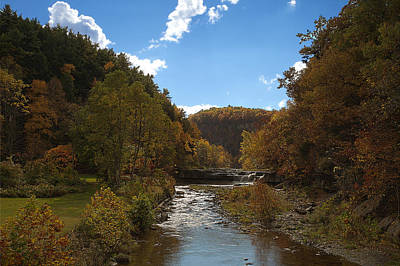 Poster featuring the photograph Taughannock Lower Falls Ithaca New York by Paul Ge