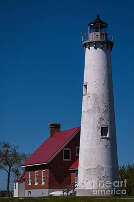 Poster featuring the photograph Tawas Point Lighthouse by Patrick Shupert
