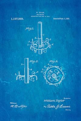 Taylor Egg Beater Patent Art 1916 Blueprint Poster