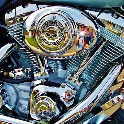 V-twin Blue Poster