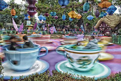 Tea Cup Ride Fantasyland Disneyland Poster by Thomas Woolworth