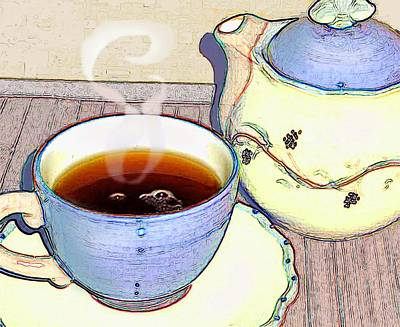Tea For One Poster by Ginny Schmidt
