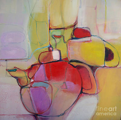 Poster featuring the painting Tea For Two by Michelle Abrams