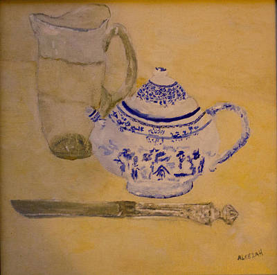 Poster featuring the painting Tea Kettle by Aleezah Selinger