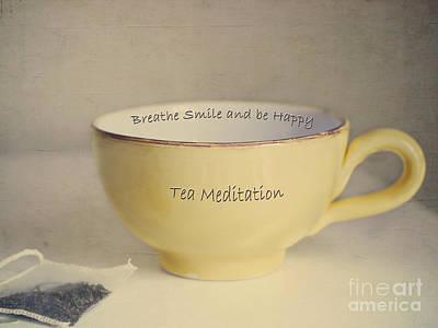 Tea Meditation Poster by Irina Wardas