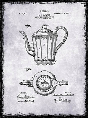 Tea Pot Patent 1902 Poster by Mark Rogan