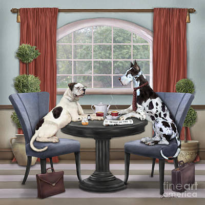 Tea Time II Poster by Jan Sacca