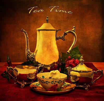 Tea Time Poster by Mechala  Matthews