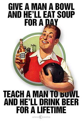 Teach A Man To Bowl Poster