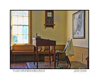 Teachers Desk Wolcott Box Schoolhouse  2671 Poster