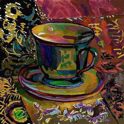 Poster featuring the digital art Teacup Study 1 by Clyde Semler
