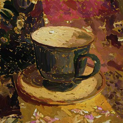 Poster featuring the digital art Teacup Study 2 by Clyde Semler