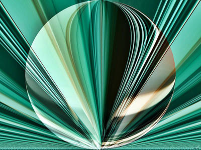 Teal - Aqua - Abstract Imposed Poster
