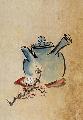Teapot Poster by Aged Pixel