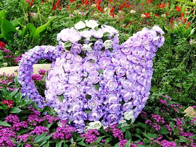 Teapot From Flowers Poster