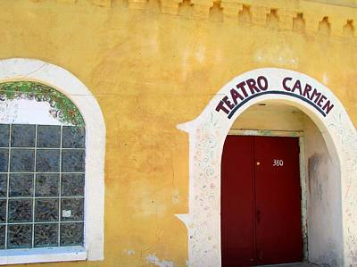 Poster featuring the photograph Teatro Carmen by Brenda Pressnall
