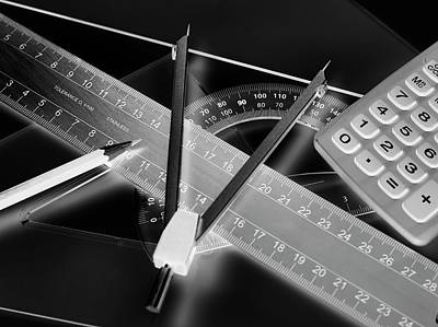 Technical Drawing Equipment Poster by Tek Image
