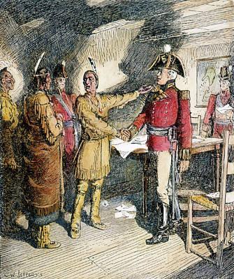 Tecumseh & Isaac Brock 1812 Poster by Granger