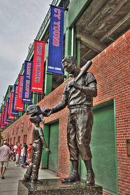 Ted Williams Statue At Fenway Park Poster