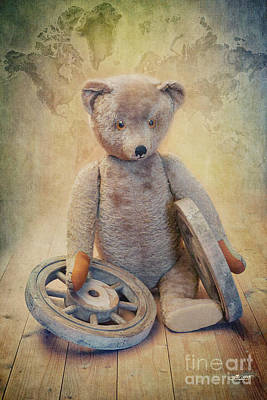 Teddy Wants To Travel Poster by Jutta Maria Pusl