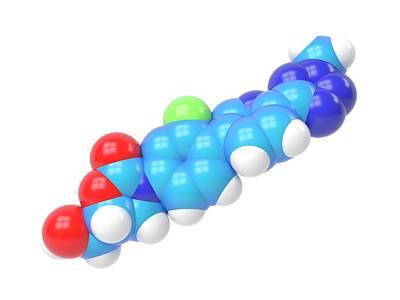 Tedizolid Antibiotic Molecule Poster by Indigo Molecular Images