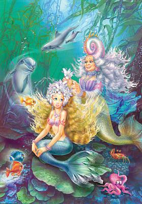 Teen Little Mermaid Poster by Zorina Baldescu
