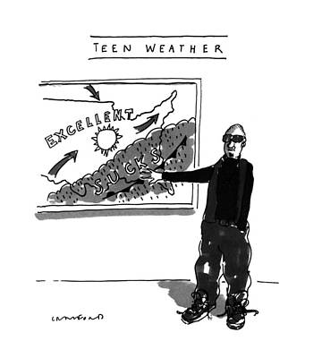 Teen Weather Poster by Michael Crawford