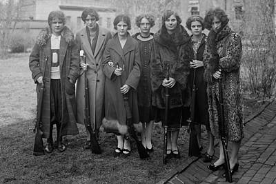 Teenage, Girls Rifle Team Of Drexel Poster