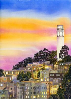 Telegraph Hill Poster by Karen Wright