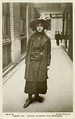 Telegraph Messenger Girl Poster