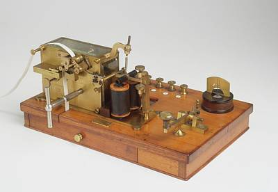 Telegraph Receiver Printed Morse Code Poster