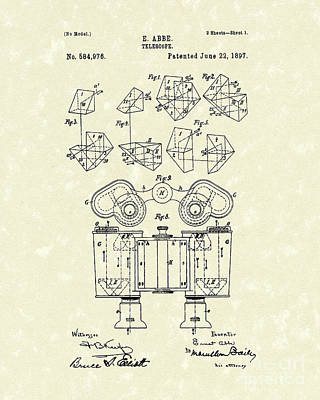 Telescope 1897 Patent Art  Poster by Prior Art Design
