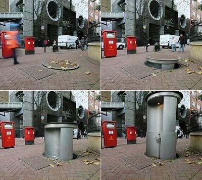 Telescopic Street Toilet Poster