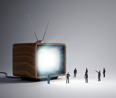 Television And Figures Poster by Andrzej Wojcicki