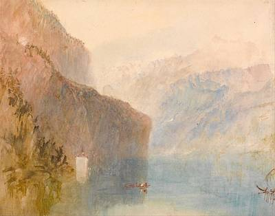 Tell's Chapel - Lake Lucerne Poster by JMW Turner