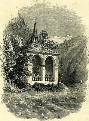 Tells  Chapel Lake Of Lucerne Switzerland Poster by Swiss School