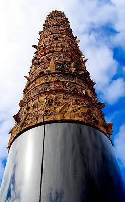Telluric Totem At Old San Juan Poster by Sandra Pena de Ortiz