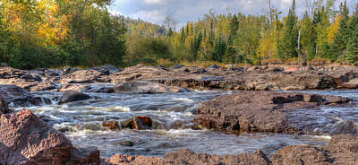 Temperance River Fall  Poster by Shane Mossman