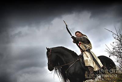 Templar Knight Friesian I Poster by Holly Martin